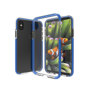 Double color iPhone X TPU+TPE shockproof phone case